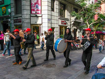 Street band in Santa Cruz Tenerife Royalty Free Stock Images