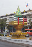The street of Bangkok in Thailand in the afternoon Stock Image