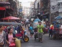 Street of Bangkok. Working in Sampeng Lane ,Market in Bangkok Royalty Free Stock Photography