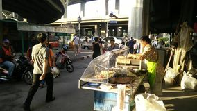 Street in bangna,thailand stock video footage