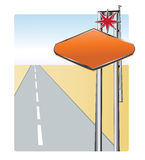 Street banner. Easy to resize or change color Royalty Free Stock Images