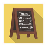 Street bar menu.A sign with the tasty dishes in the street. Pub single icon in flat style vector symbol stock Royalty Free Stock Photography