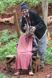 Street barber Stock Photos
