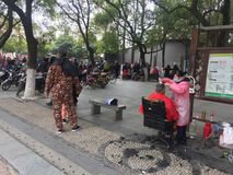 Street barber stalls. Nanchang easy street haircut stalls, public convenience. January 13, 2018 Royalty Free Stock Images