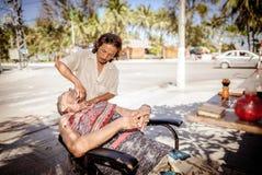Street barber in vietnam 4 Stock Image