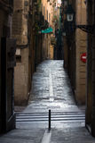 Street in Barcelona. Royalty Free Stock Photography