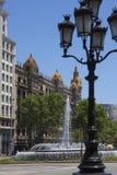 Street in Barcelona - Spain royalty free stock photos