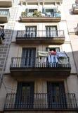 Street in Barcelona, Spain Stock Photo
