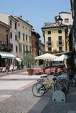 Street Bardolino. Street in Bardolino Italy on the shores of Lake Garda stock image