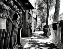 bargain boutique for women. Street bargain boutique for women Stock Images