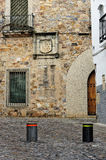 Street barrier in Caceres Stock Photos