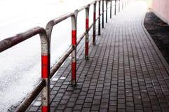Street barrier Stock Photo
