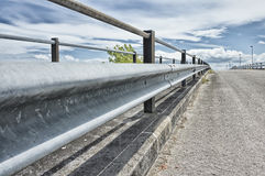 Street barrier - guardrail Royalty Free Stock Images
