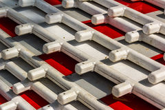 Street Barriers. Red and White Royalty Free Stock Photos