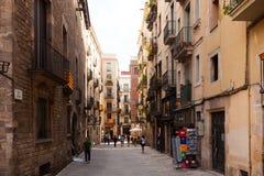 Street at Barrio Gotico Stock Photos