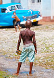 Street baseball, Cuba Royalty Free Stock Image
