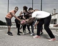 Street basket team Stock Photography