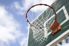 Street basketball board. On blue sky Stock Images