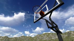 Street basketball board Royalty Free Stock Images