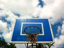 Street basketball court Stock Image