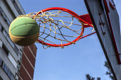 Street basketball game Royalty Free Stock Photo