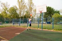 Street basketball player Stock Photography