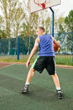 Street basketball player Stock Images