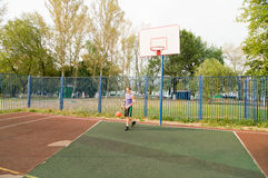 Street basketball player Royalty Free Stock Images