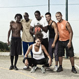 Street basketball team Royalty Free Stock Image