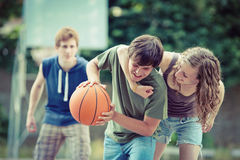 Street basketball Royalty Free Stock Images