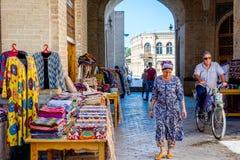 Street bazaar in Bukhara, Uzbekistan Stock Images