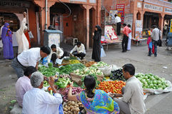 Street Bazaar in India Royalty Free Stock Photography