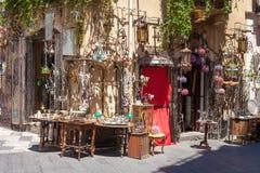 Street Bazaar in Taormina Stock Image