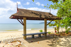 Beach gazeboo of Ao Nang. Thailand Royalty Free Stock Photos