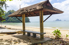 Beach gazeboo of Ao Nang. Thailand Stock Image