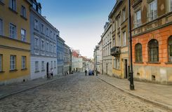 Street in Warsaw Old Town, Poland Stock Photo