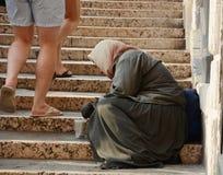 Street beggar Stock Images