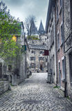 Street in Belgium town Durbuy Royalty Free Stock Photography