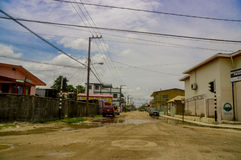 Street in belize city Stock Images