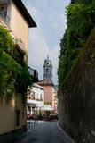 Street of Bellagio,lake Como. Bellagio town at the famous Italian lake Como Stock Images
