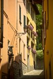 Street at Bellagio village, Italy Royalty Free Stock Images