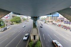 Street below brt bridge Stock Photography