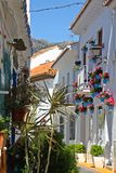 Street in Benalmadena Pueblo, Spain Royalty Free Stock Images