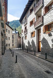 Street of benasque Stock Photos