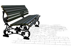 Street bench Royalty Free Stock Images