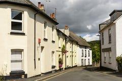 Street bends at Moretonhampsted, Devon Stock Image