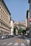 Street of the Bergamo. On a summer day Royalty Free Stock Image