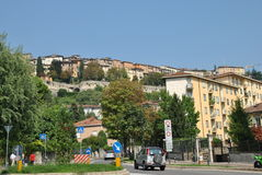 Street of the Bergamo. On a summer day Royalty Free Stock Photos