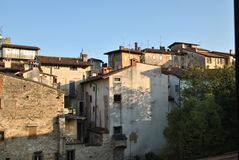 Street of the Bergamo. On a summer day Stock Image