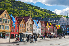 Street in Bergen, Norway Stock Photography